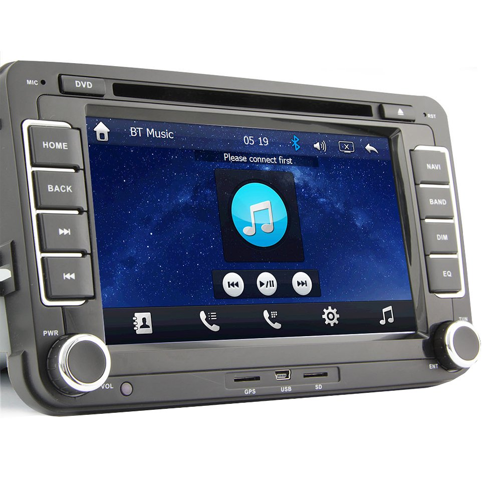 amazon com 7 2 din touch screen car dvd player for vw volkswagen amazon com 7 2 din touch screen car dvd player for vw volkswagen jetta golf 5 6 skoda passat caddy t5 seat can bus bluetooth gps ipod input rds radio