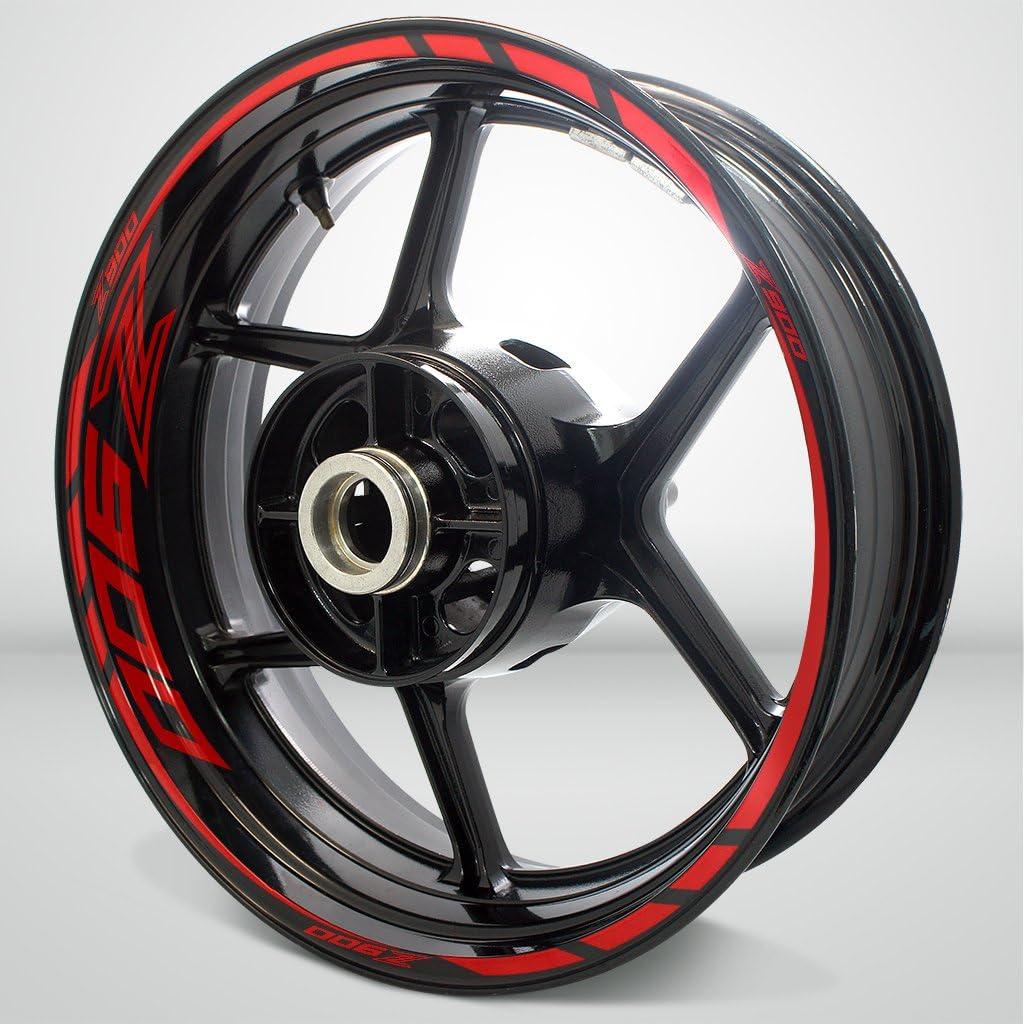 2 Tone Amethyst Motorcycle Rim Wheel Decal Accessory Sticker For Kawasaki Z900