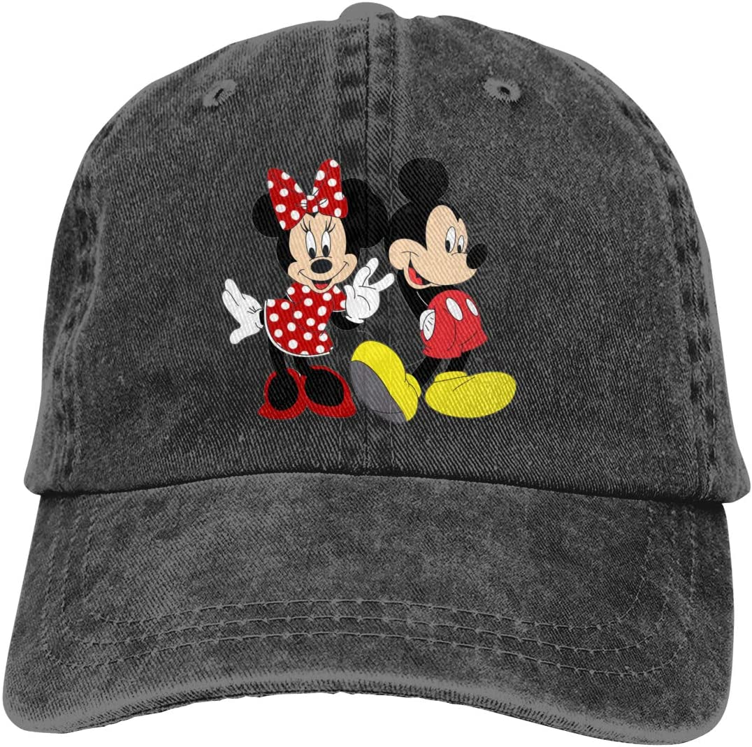 TBLHM Mickey And Minnie Mouse Lightweight Quick Dry Breathable Baseball Cap Outdoor Run Cap Fashion Tide Cap Casual Sun Hat Adjustable Classic Sports Hat