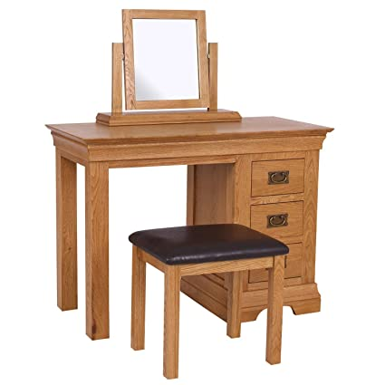 on sale 24059 99c6f Loire Oak Farmhouse Dressing Table
