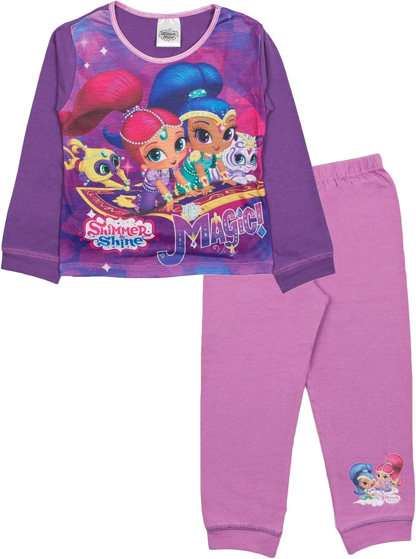 Pijama para niña brillante y brillante, color morado con texto en inglés