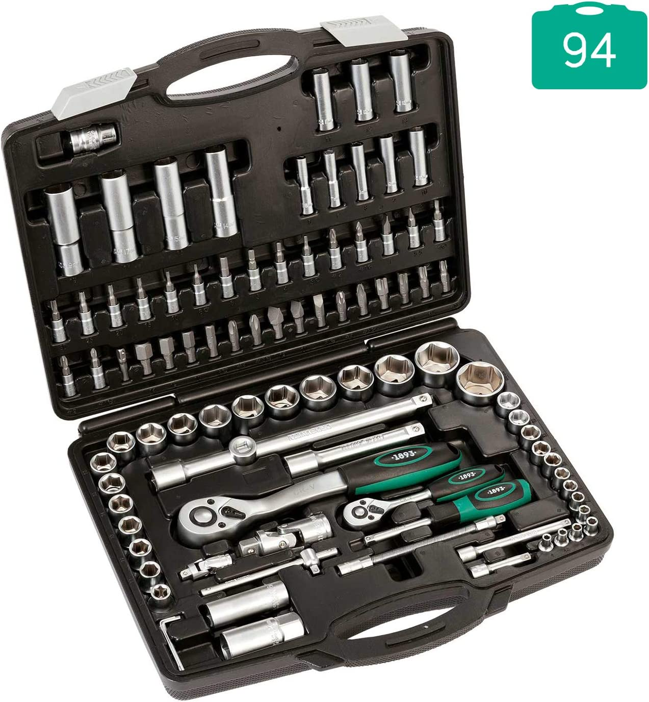 "HILKA SOCKET SET METRIC 94 PIECE 1//2/"" 1//4/"" DRIVE RATCHET SOCKETS TOOL KIT"