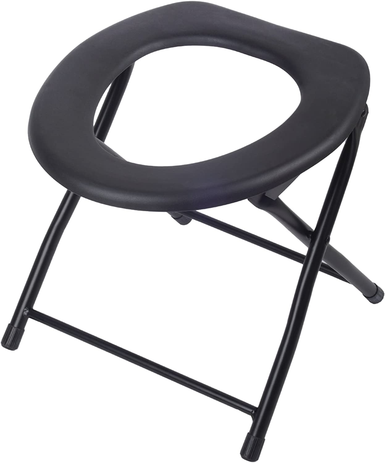 Folding Commode Chair Portable Toilet Seat, 9 Pounds Capacity PTS9