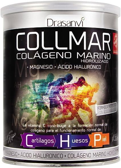 COLLMAR Colágeno Marino Hidrolizado con Magnesio, Ácido Hialurónico y Vitamina C 300 g Polvo: Amazon.es: Salud y cuidado personal