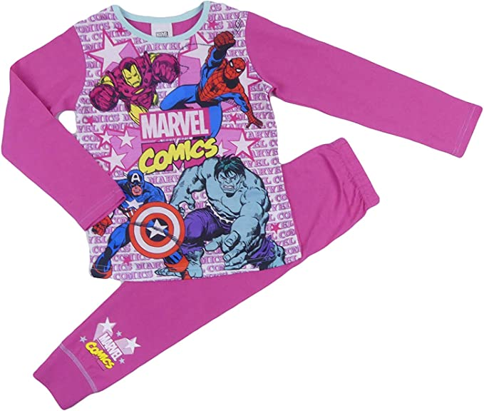 Filles Pyjamas DC Super Héros Pyjama Wonder Woman héros Supergirl 4 To 10 ans