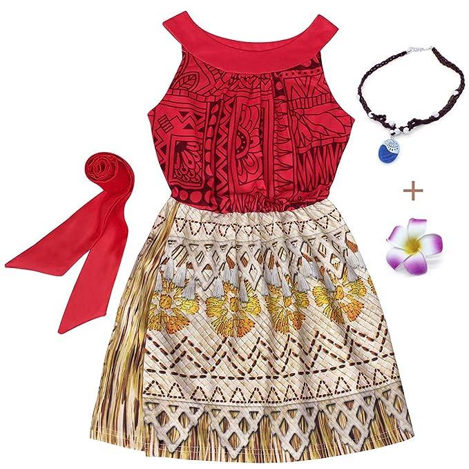 Amazon.com: Moana Disfraz para niñas para disfrazarse de ...