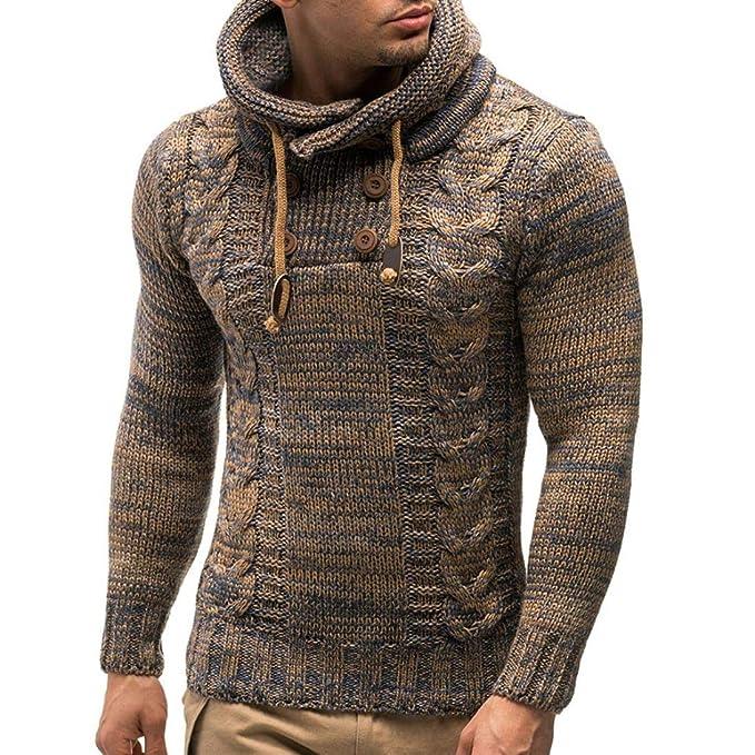 Yvelands Personalidad Hombres Pullover Casual Jersey Cardigan Coat Chaqueta con Capucha Outwear Otoño Invierno, Ofertas de liquidación!: