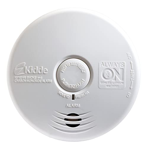 Kidde P3010K-CO Worry-Free Kitchen Smoke and Carbon Monoxide Alarm with 10 Year Sealed Battery 4 Pack