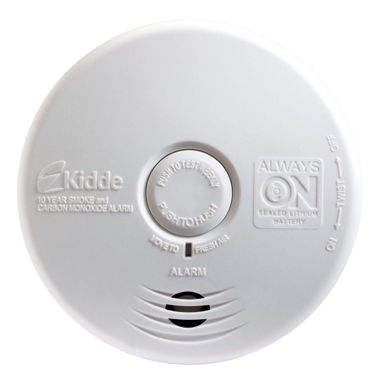 Kidde P3010K-CO Worry-Free Kitchen Smoke and Carbon Monoxide Alarm with 10 Year Sealed Battery (4 Pack)