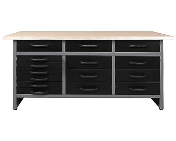 Ondis24 Werkbank Werktisch Packtisch 15 Schubladen