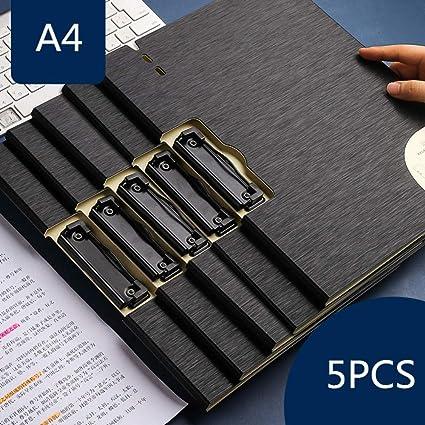 Archivador 4 anillas Carpeta de oficina Tablero de escritura Capa de escritura Clip de la placa