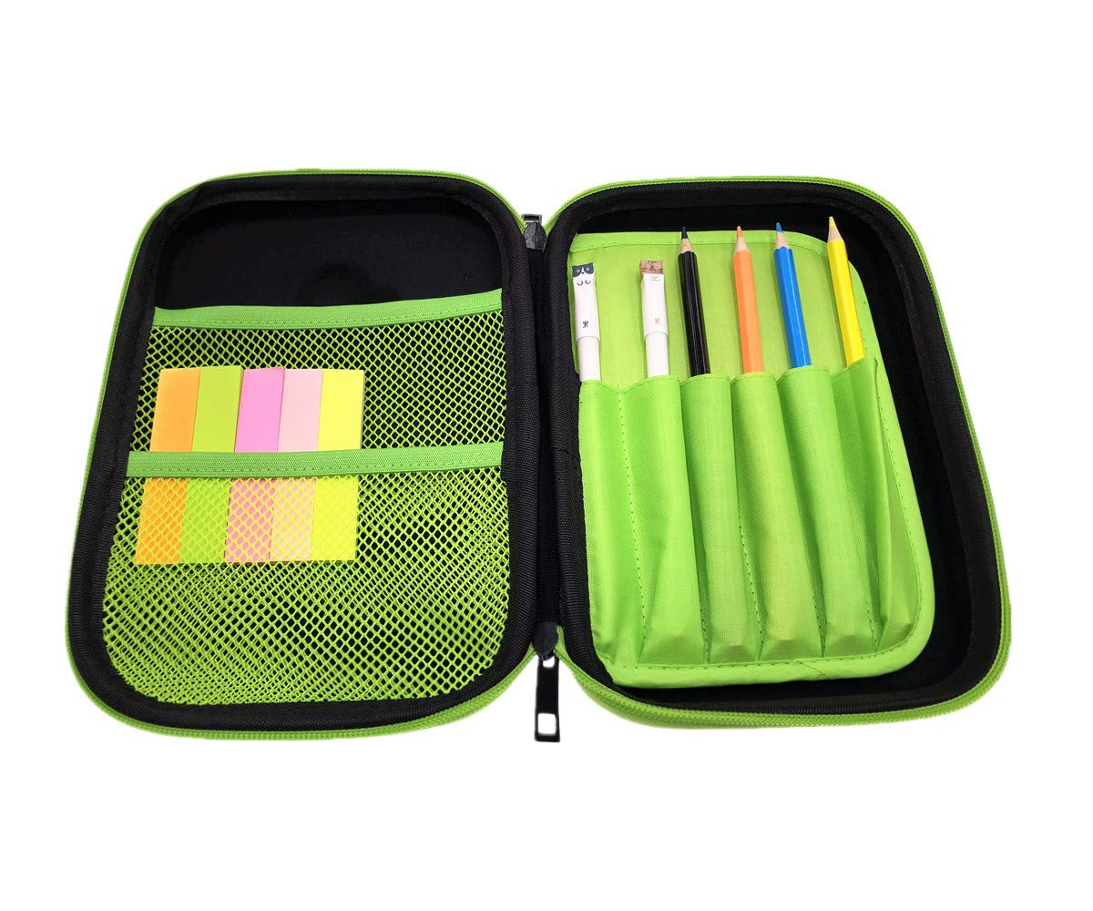 Cool Pencil Case for Boy Big Capacity BPA Free EVA Colored Pen Holder Box with Compartments Basketball Dinosaur Black Stationery Organizer