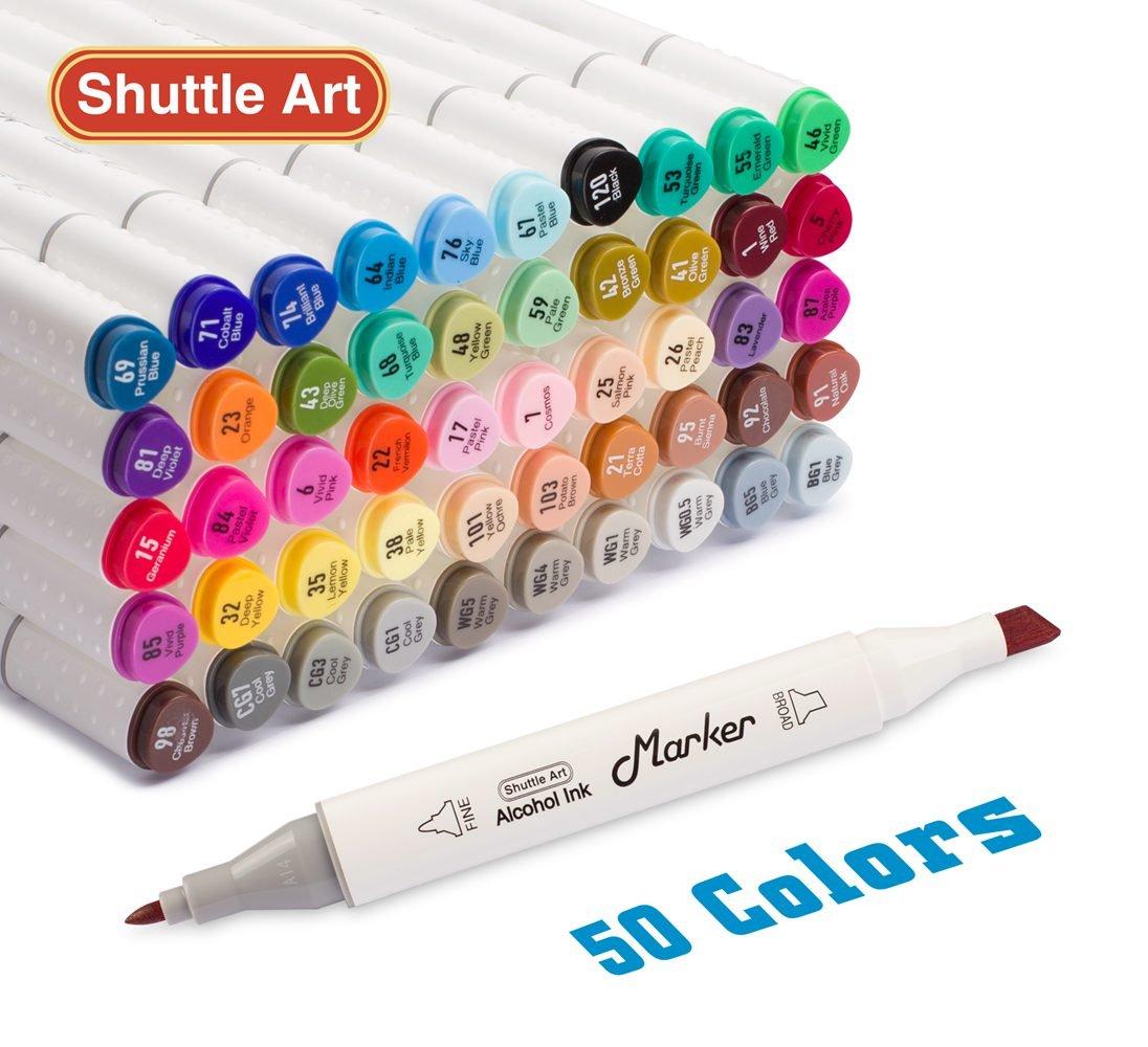 Shuttle Art 50 Colors Dual Tip...