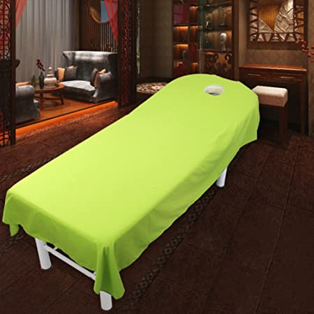 Beauty Bed Linen Super Soft Matte Beauty Bed Sheets Massage Spa Bed Linen Green  120x190cm