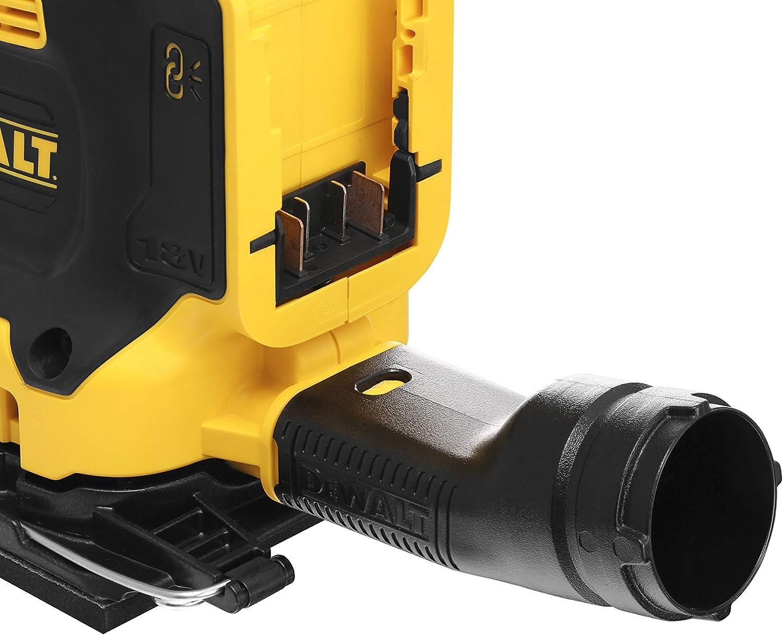 coffret TSTAK sans batterie ni chargeur DeWalt DCW200NT-XJ Ponceuse 1//4 de feuille XR 18V Brushless