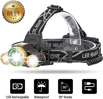 X-LIGHT Stirn-Lampe Kopf-Leuchte Arbeits LED regengeschützt schwenkbar Nacht