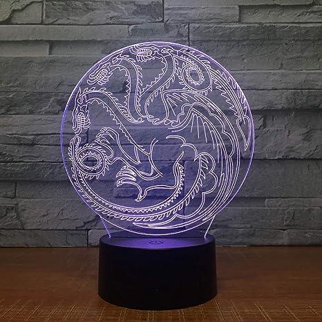 LED 3D Lampe Nachtlicht Tischlampe Licht Kinderlampe Schlaflicht Delfin Delphin