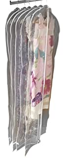 Gowns and Dresses 2 Year Warranty Shirts DRYZEM Garment Covers Bags Set of 3 White Long Breathable Covers for Suits