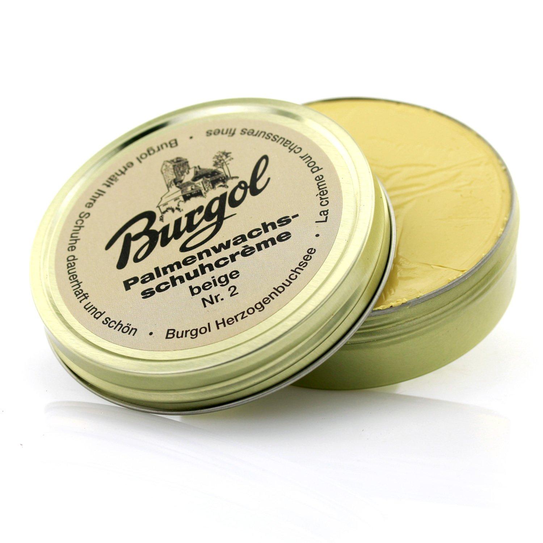 Burgol Cire de palme Crème pour chaussures 100ml, en plusieurs Couleurs disponible