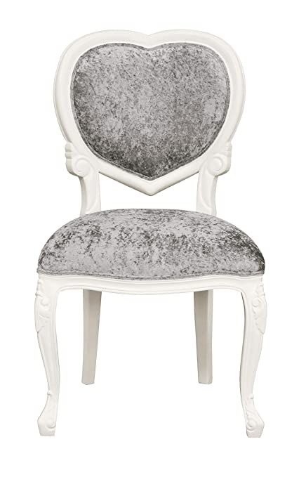 Surprising Louis Xv Medee French Heart Chair White With Crushed Silver Velvet Lxv097 Ibusinesslaw Wood Chair Design Ideas Ibusinesslaworg