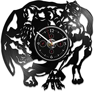Handmade Black Panther Birthday Gift For Kids Vinyl Record Wall Clock Black Panther Clock Wall Clock Large Black Panther Vinyl Wall Clock Black Panther Gift Gift Black Panther Marvel Comics Clock