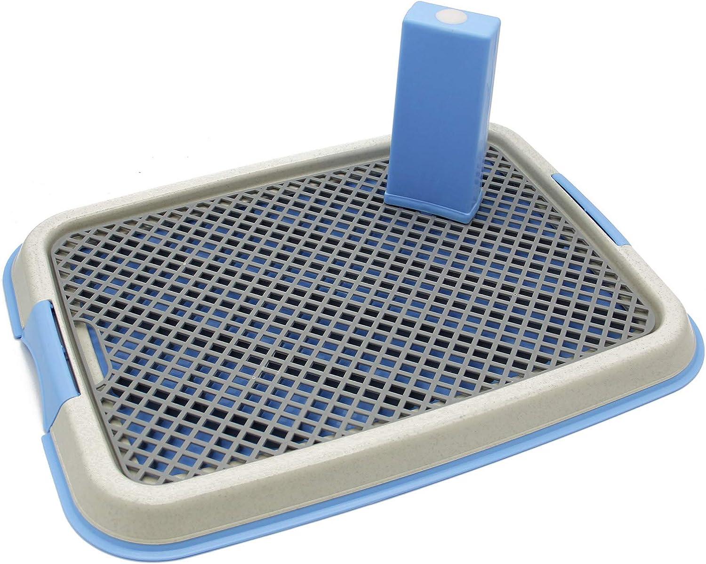 BPS Bandeja Sanitaria de Adiestramiento Inodoro Interior para Perros Aseo Mascotas Plástico 2 Tamaños M/L Color al Azar (M: 49 x 36 x 3 cm) BPS-5703
