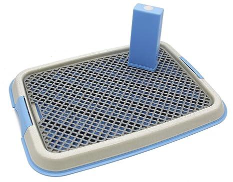 BPS Bandeja Sanitaria de Adiestramiento Inodoro Interior para Perros Aseo Mascotas Plástico 2 Tamaños M/L Color al Azar (L: 64 x 48 x 4 cm) BPS-5705