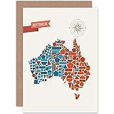 Wee blue coo card greeting little world city skyline prague czech wee blue coo australia geometric map shapes birthday gift blank greetings card m4hsunfo