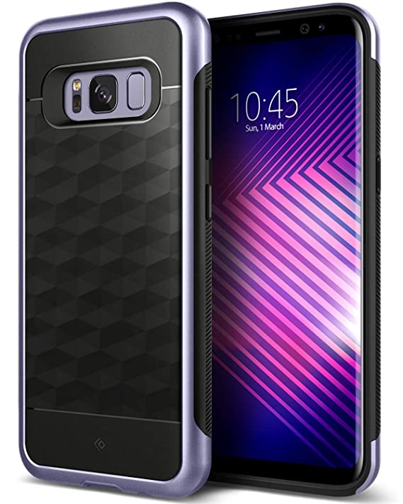 Caseology Parallax For Samsung Galaxy S8 Plus Case (2017)   Black/Orchid Gray by Caseology