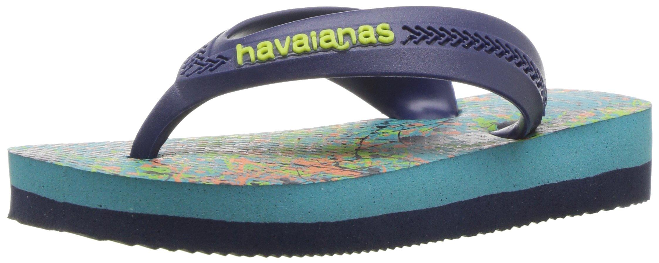 Havaianas Flip Flop Sandals, Kids Max Trend,Blue/Navy Blue,33/34 BR (3-4 M US Little Kid)