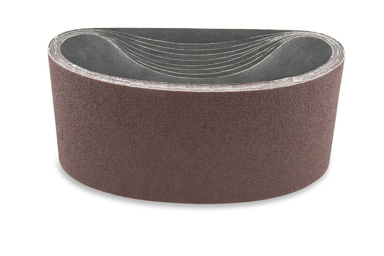 4X132 인치 100 모래 알루미늄 산화물 다목적용 모래로 덮는 벨트 팩 3-샌더 벨트-샌더 툴 모래는 종이-알루미늄 산화물 모래로 덮는 벨트-모래로 덮는 벨트