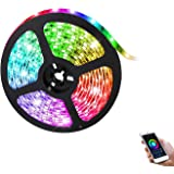 Smart WIFI LED Strip Light TV Backlight RGB Rope Light APP Remote and Voice Control Waterproof Work with Alexa Google…
