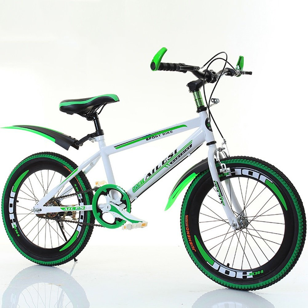 yxgh-子供の自転車20インチBoys and Girls自転車pupils Single SpeedマウンテンバイクBig Boy 7 – 13 Years Old  グリーン B07DK5X1J5