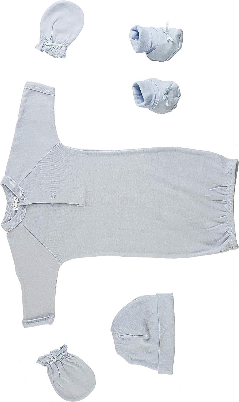CS/_0062 4 Pc Set Preemie Preemie Gown Mittens and Booties Cap