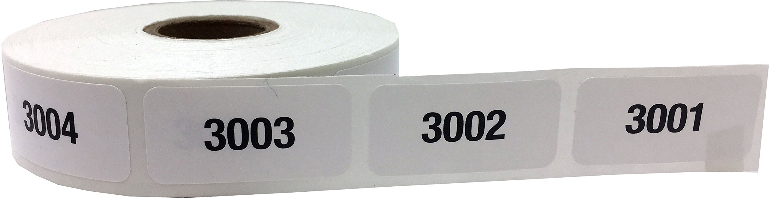 Consecutive Number Labels Bulk Pack Numbers 1 Through 10,000 White/Black .75 x 1.5 Rectangle Small Number Stickers For Inventory by InStockLabels.com (Image #6)