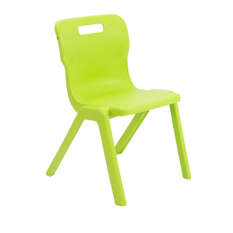 Titan einem Stück Klassenzimmer Stuhl – Größe 6, Alter Alter Alter 13  Jahren, Kunststoff, Lime grün, 3 Stück B06XVYNR6P | Elegante Form  | Good Design  | Qualität Produkte  1960eb