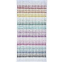 900 Pezzi 3mm 4mm 5mm Colorato Adesivi Strass Autoadesivi Cristallo Adesivo Diamante Strass Sticker Sheet