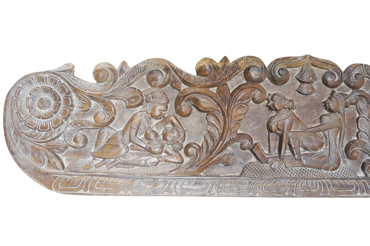Vintage Carving Headboard Handcarved Kamasutra Love Hymn To Joy Of Life Interior Design by Mogul Interior (Image #3)