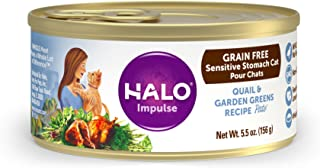 product image for Halo Natural Wet Cat Food, Sensitive Stomach Recipe, 5.5oz. Can ( Pack of 12)