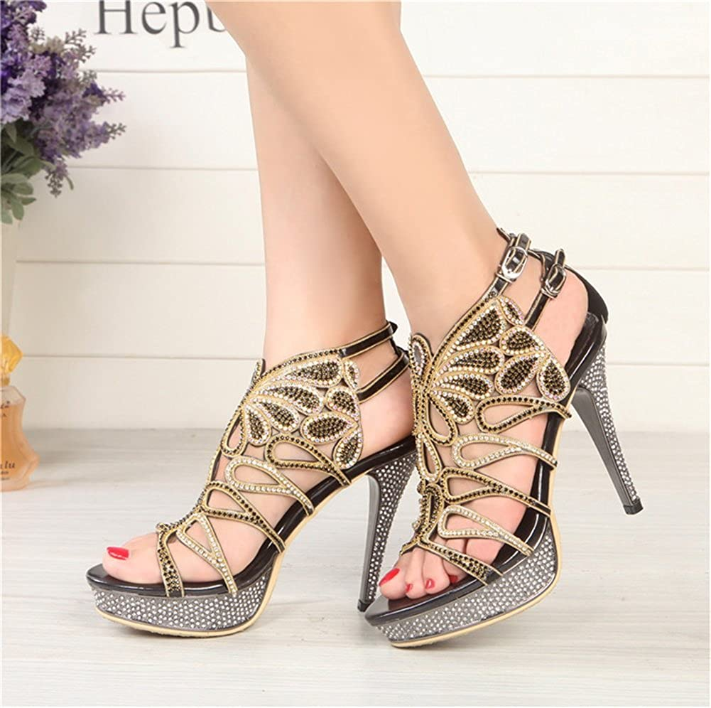 Jiang Women's Shoes 2018 New Spring Summer Heels Stiletto Stiletto Stiletto Heel Peep Toe Buckle for Party & Evening Office & Career Dress Sandals B07D5T4V54 Sandals 873027