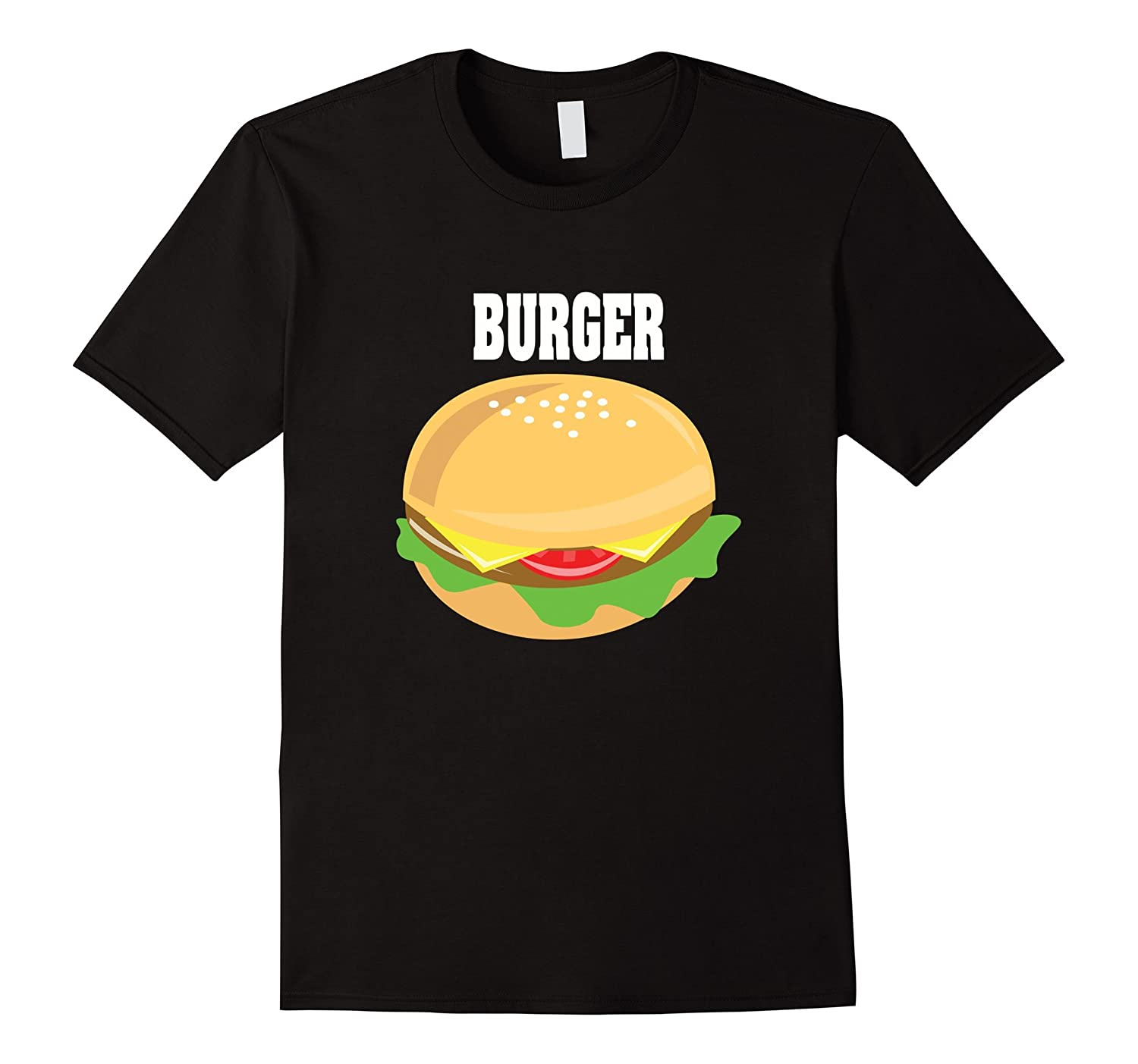 cheeseburger couples halloween costume shirt burger fries