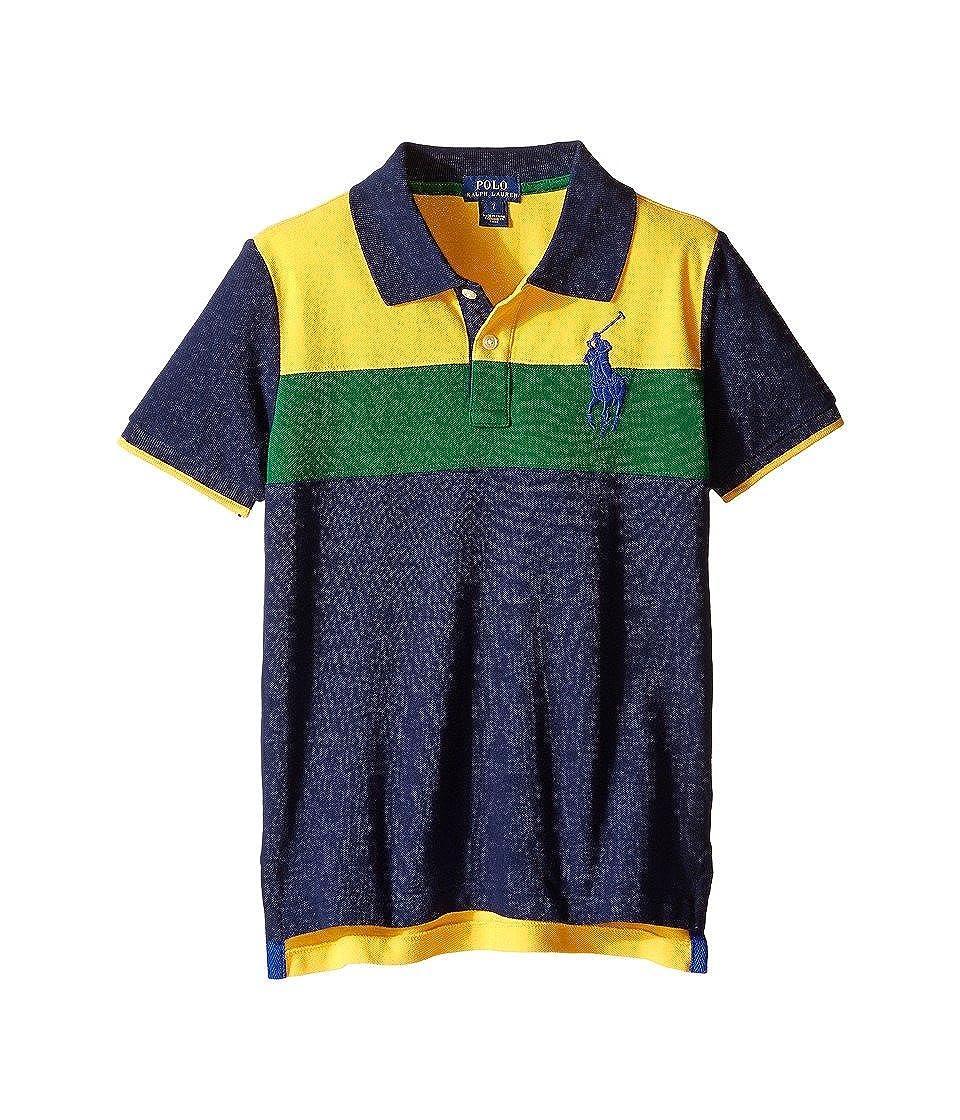 Ralph Lauren Little Girrls Cotton Chambray Shirt Color Indigo