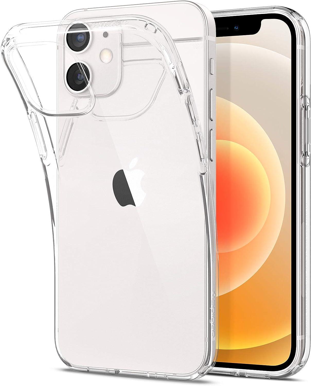 Spigen Liquid Crystal Hülle Kompatibel Mit Iphone 12 Mini Crystal Clear Elektronik