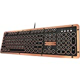 Azio Retro Classic USB (Artisan) - Luxury Vintage Backlit Mechanical Keyboard (MK-RETRO-L-03-US)