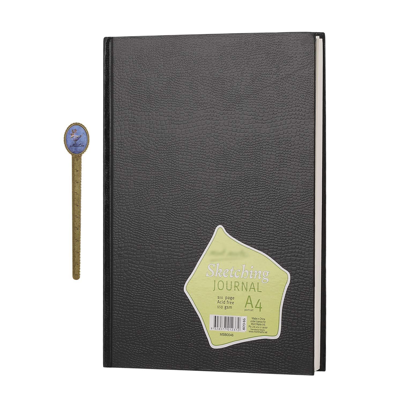 copertina rigida formato A4 schizzi per disegnare disegnare scarabocchiare scrittura Vertical Pattern Quaderno per schizzi con copertina rigida diario di viaggio senza righe 100 pagine