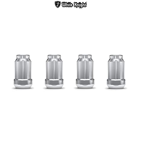 White Knight 3804-4 1//2-Inch-20 Thread Size Spline Drive Lug Nut with Key 4-Pack Chrome