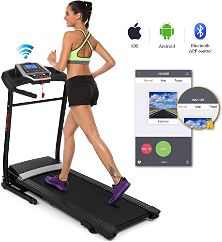 Folding Electric Treadmill Incline