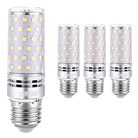 Hzsane E27 Bombilla de Maíz LED 15W, 6000K Blanco Frío, 120W Incandescente Bombillas Equivalentes