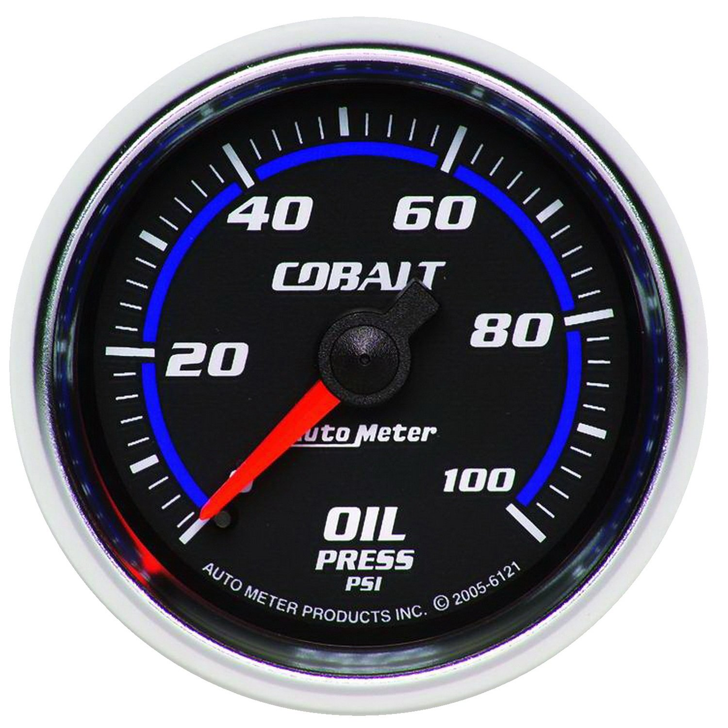 Autometer Cobalt 52mm 100 PSI Mechanical Oil Pressure Gauge am6121