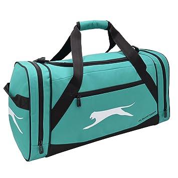 Slazenger Medium Holdall Teal Sports Kit Bag Gymbag Carryall W54 X H26